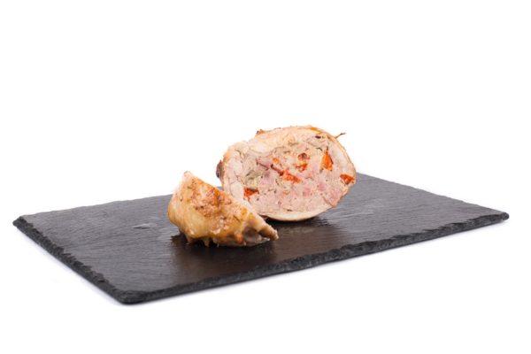 Vykoštěné kuřecí stehno plněné mletým masem